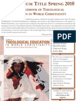 Handbook of Theological Education in World Christianity Flyer