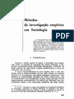 """GREENWOOD, E., """"Métodos de investigação empírica em Sociologia"""""""