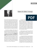 Biografía Y  Obituario de Roberto de Zubiría  Miembro fundador de la ACMI