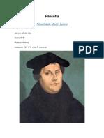 Filosofía de Martín Lutero - Trabajo Práctico Escolar