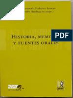 Historia Memoria y Fuentes Orales Memoria Abierta