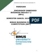 BP2 - Panduan BPC Semester Ganjil 2019-2020