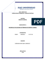 Glosario de Termino en Derecho Laboral