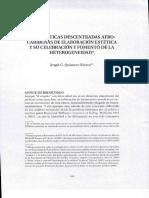 Las prácticas descentradas aforcaribeñas de elaboración estética y su celbración y fomento de la heterogeneidad