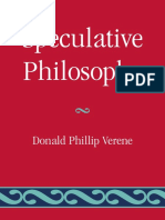 Donald Phillip Verene - Speculative Philosophy (2009, Lexington Books).pdf