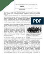 5to básico, unidad 3, Guía n°2 RELACIONES ENTRE INDIGENAS Y ESPAÑOLES