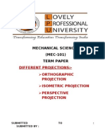 Term Paper on Different Types of Projections