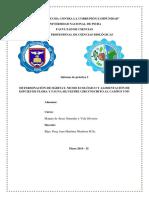 Informe 2- Hábitat, Nicho Ecológico y Tipo de Alimentos