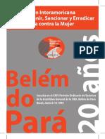 Convención Interamericana para prevenir, sancionar y erradicar la violencia contra la mujer Belém do Pará