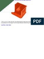 Akro Mils Inc 7x4x3' RED Akro Bin Tool Storage Organizers