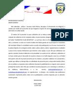 Carta Patrocinio de Futbol OSUNA