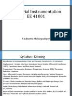 Industrial Instrumentation EE 41001 Lecture 1