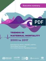 Maternal Mortality Exec Summary WHO