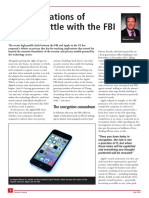 2016 the Implications of Apple's Battle With the FBI
