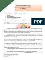 Diagnóstico 3° básico. Lenguaje