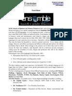Ensemble Press Release
