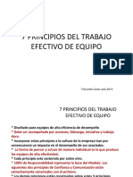 7 Principios Del Trabajo Efectivo de Equipos