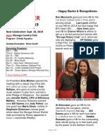 Moraga Rotary Newsletter September 17, 2019