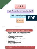 Digital Transmission of Analog Signal