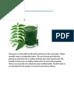 Benefits Of Neem juice