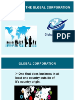 The Rise of the Global Corporation