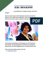Deepa Malik- Biography