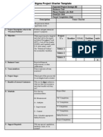 Six Sigma Project Charter Template v1