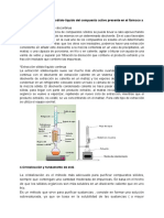 Investigación Cristalización