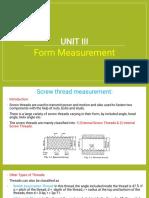 Unit - 3 Form Measurement