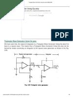 Triangular Wave Generator Using Op Amp _ EEEGUIDE