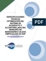 7. ESPECIFICACIONES GENERALES  Acueducto y Alcantarillado Manzanares.pdf
