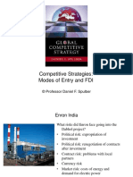 Corporate Strategies - Modes of Entry and FDI