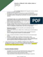 FICHAMENTO - Tocqueville, Sarmiento e Alberdi