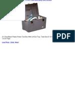 Plano Molding Co 21' Plas PWR Tool Box Poly Tool Boxes