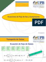 Ecuaciones de Flujo de Gas y Compresoras