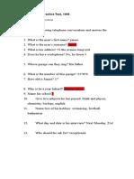 DWC Listening Practice Test.doc
