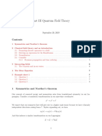 quantum field theory notes