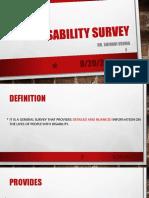 Disability Survey
