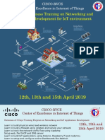3 Days Workshop on Network and IoT Application