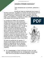 Como Esta Organizado El Estado Mexicano