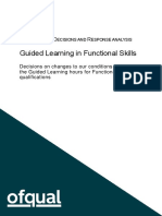 19-6526 Guided Learning in Functional Skills - Consultation Decision