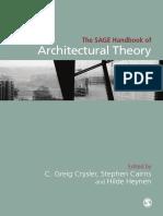 SAGE Handbook of Architecural Theory
