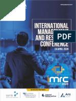 IMRC 2020 Brochure