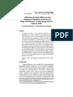 Identification of Gender Difference and Homogeneous Population_Savitesh Kushwaha_ Vol. 9 No. 1 Jan_June 2019