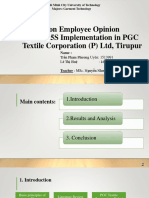 A Study on Employee Opinion Towards 5S Implementation