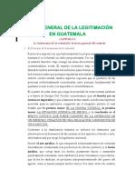 TEORÍA GENERAL DE LA LEGITIMACIÓN EN GUATEMALA