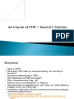 An Anaylsis of FATF in Context of Pakistan