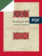 Reading the Bible Across Contexts. Luke's Gospel and Latin American Hermeneutics (E.J. Autero)