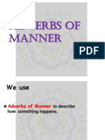Ppt Adverbs of Manner
