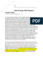 Alternative Energy and Fossil Fuels Info